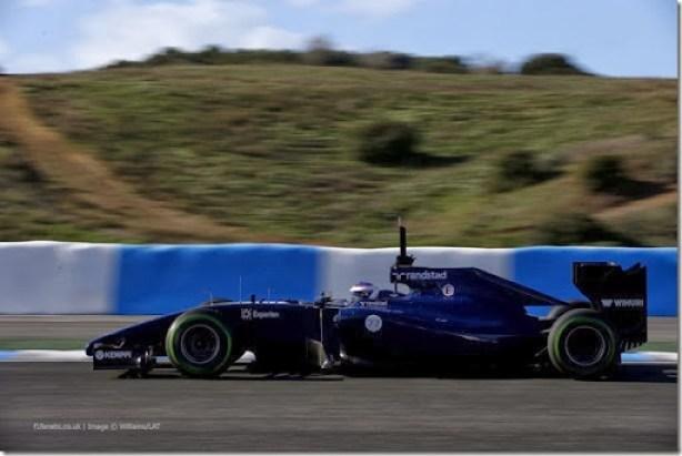 2014 F1 Pre Season Test 1 - Day 2Circuito de Jerez, Jerez, Spain.Wednesday 29 January 2014.Valterri Bottas, Williams FW36 Mercedes.World Copyright: Glenn Dunbar/Williams F1.ref: Digital Image _89P9539