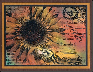 sunflower collage stamp