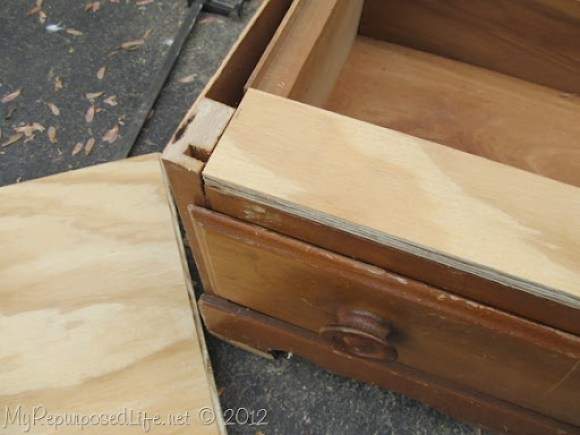 Chest of Drawers into Bench (20)