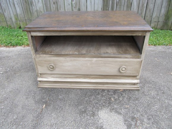 Chest of Drawers into Entertainment Center