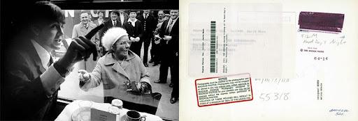 Copia y su reverso de una imágen de David Hurn. Magnum Photos