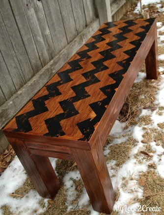 almost free chevron bench