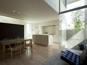 casa moderna con cocina americana