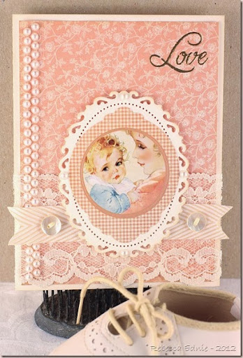love and bling baby card