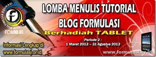 lomba menulis tutorial blog formulasi