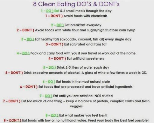 clean eating dos and donts