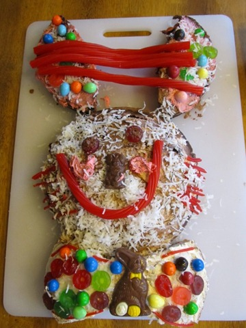 Kid Decorated Easter Bunny Cake from Think Magnet Kids