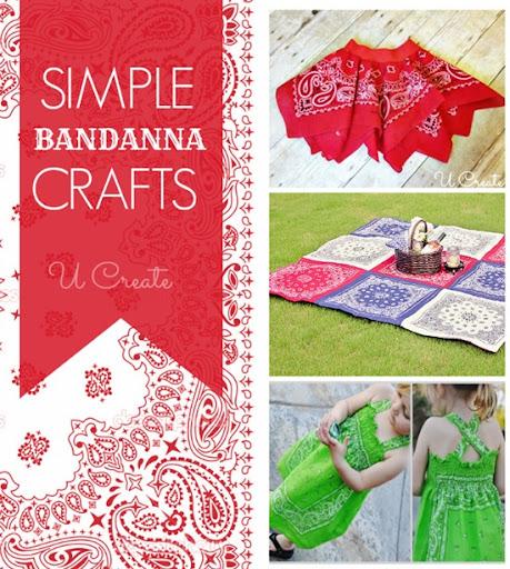 Lots of simple bandanna tutorials at U Create!