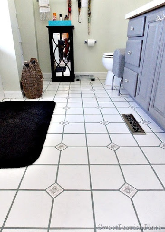 bathroom grout after1