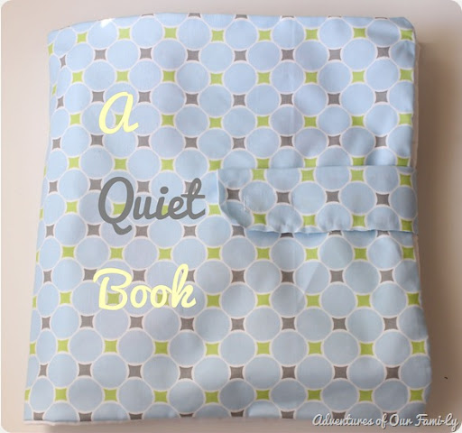 quiet book cover with font
