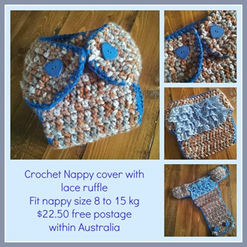 nappy cover collage blue