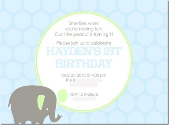 Haydens party invite blurr