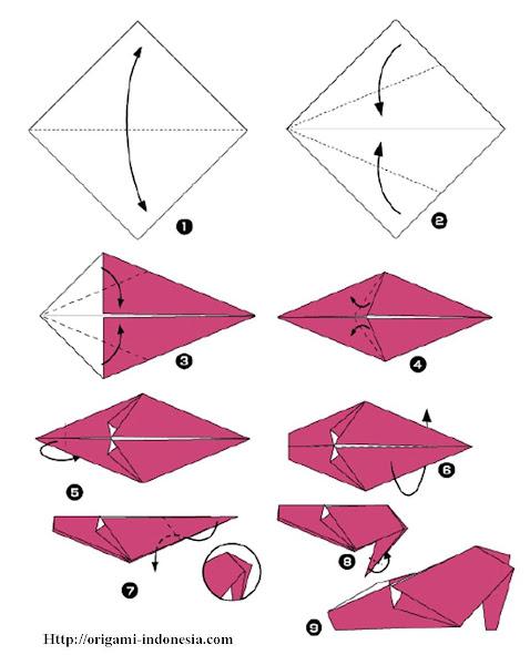 Cara Membuat Terompet Dari Karton : membuat, terompet, karton, Langkah-langkah, Membuat, Origami, Sepatu, Fachri's