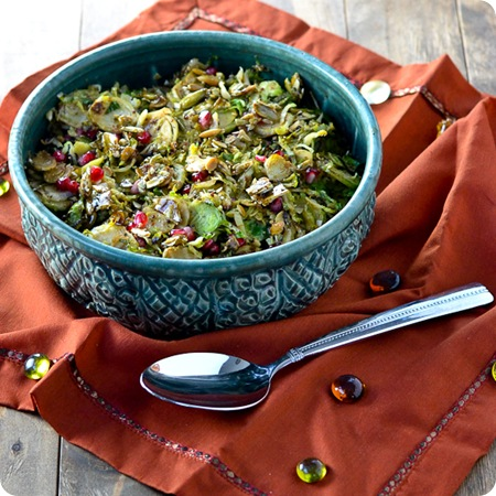 Maple-Mustard-Brussels-Sprouts-with-Pepitas-and-Pomegranate-Seeds-@Caras-Cravings-3