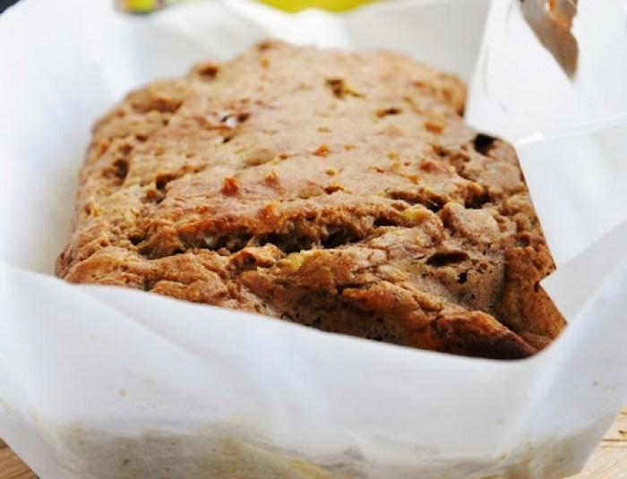 Spiced Rum Banana Nut Bread w.Cream Cheese Glaze (7)