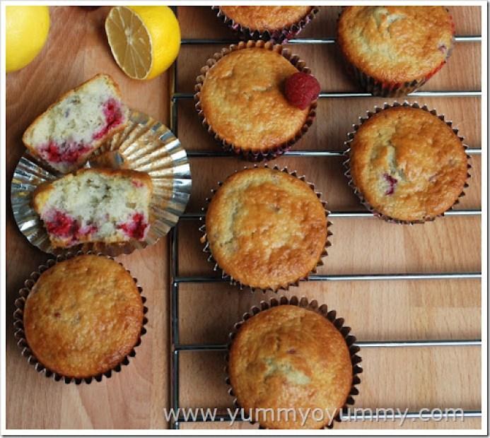 Raspberry and Lemon Muffins