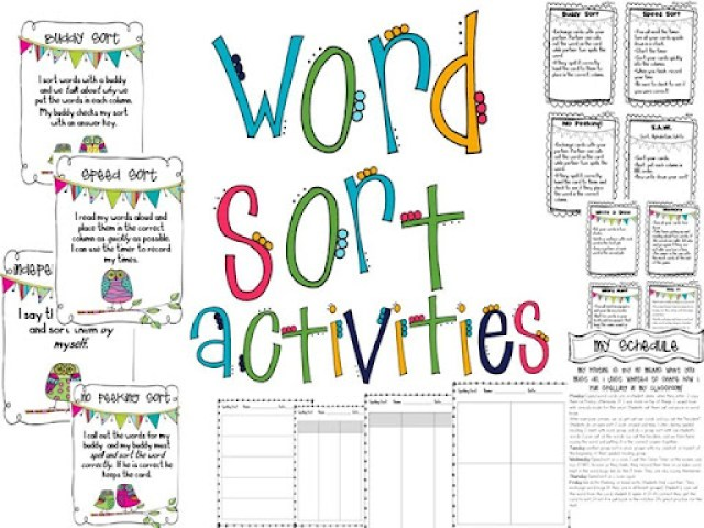 Spelling MY Way Sorting and scheduling the tattooed teacher – Word Sort Templates