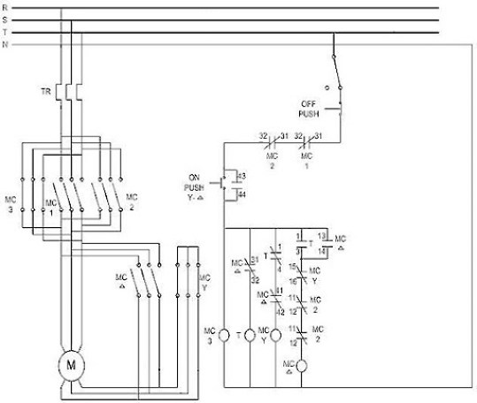 star delta motor control wiring diagram wiring diagram ion about star delta control circuit diagram text plcs