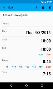 Work Tracker screenshot 1