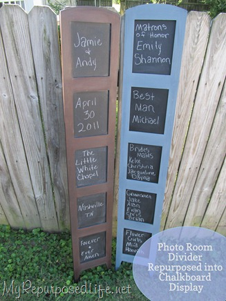 repurposed photo room divider into chalkboard (ab23)