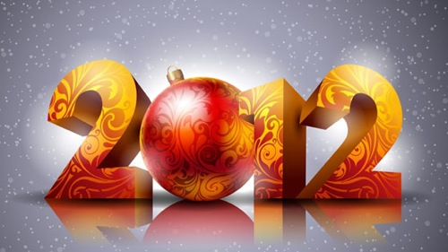 Beautiful happy new year 2012 in different styles 1