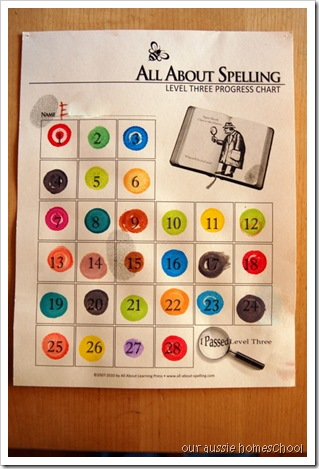 Our Aussie Homeschool ~ All About Spelling