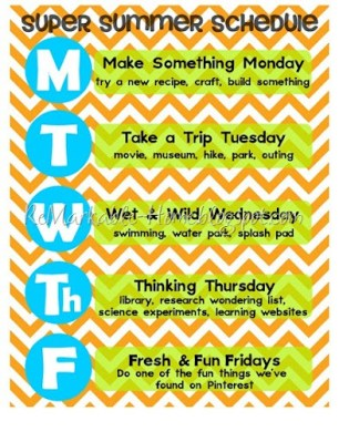 Free Printable from ReMarkable Home. Come get your own Super Summer Schedule!