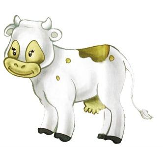 fazenda decoupage vaca