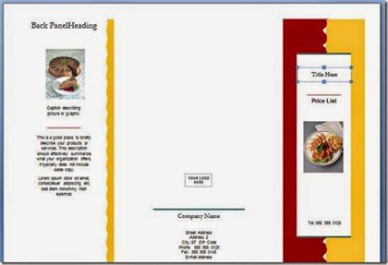 cara paling mudah mendesain brosur office word