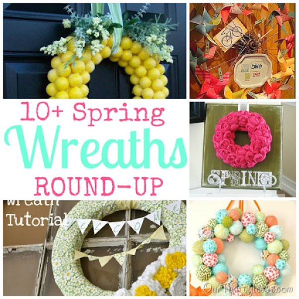 Our Thrifty Ideas | Get Ideas for your spring wreath or door hanger with this fun round-up of ideas | #spring #roundup #wreath #decor
