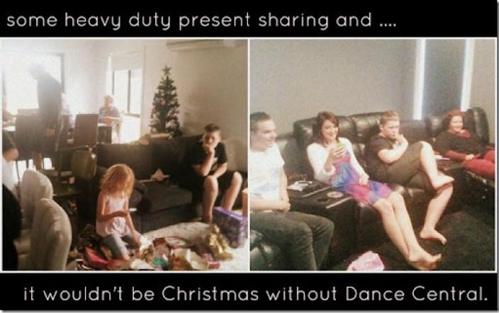 christmas 2012 wrapping and dancing