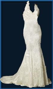 paper doll wedding dress v halter no ribbon
