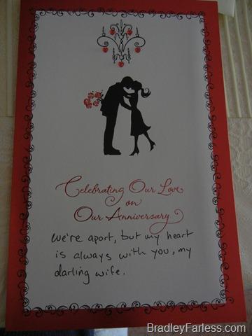 Three Year Anniversary Card