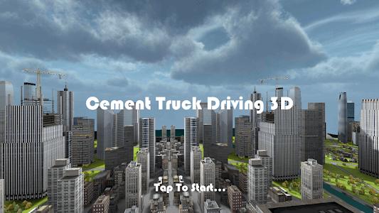 Cement Truck Driving 3D FREE screenshot 0