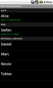 Birthday Reminder screenshot 0