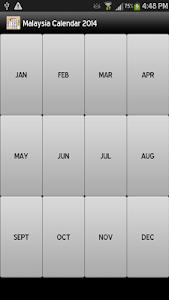 Malaysia Calendar 2014 screenshot 1