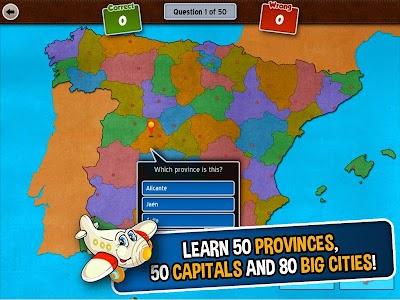 GeoFlight Spain: Geography screenshot 1