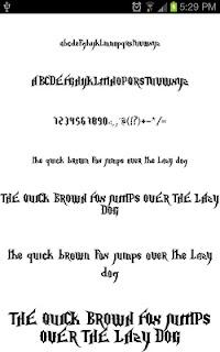 Goth Fonts for FlipFont free screenshot 00