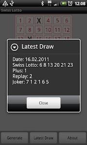 Swiss Lotto screenshot 1