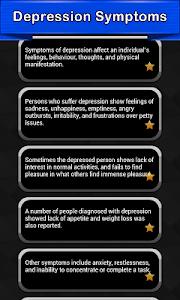 Depression Symptoms + Signs screenshot 0