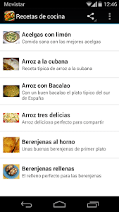 Recetas de cocina gratis screenshot 0