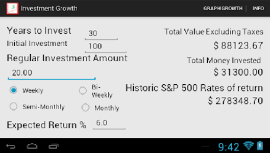 Investment Growth screenshot 1