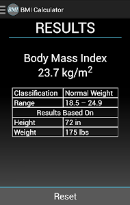 BMI Calculator screenshot 1