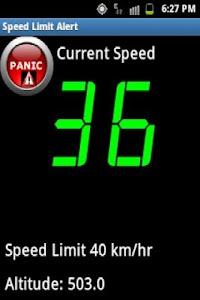 Speed Limit Alert screenshot 1