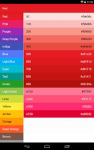 Material-Design-Colors screenshot 4