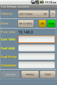 Fuel Mileage Calculator screenshot 0