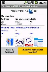 GPS Locate and SMS screenshot 0