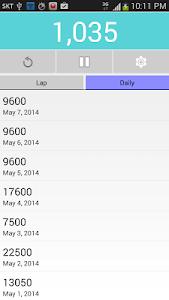 Pedometer screenshot 1