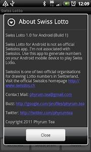 Swiss Lotto screenshot 2