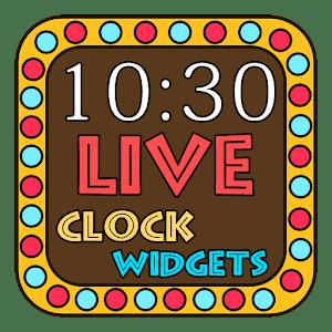 Neon Light Clock Widget